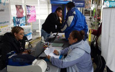 El SSTEEV presente y en servicio en modulo itinerante, en el Estadio Xalapeño, durante el evento 10 Carrera y Caminata SETSE.