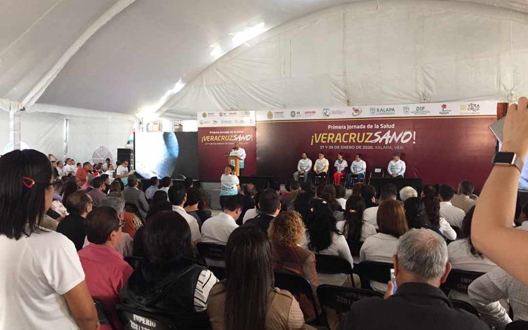 """La Primera Jornada de la Salud 2020 """"VeracruzSano"""", efectuada en la sede de las nuevas instalaciones del SSTEEV, resultó altamente positiva para adultos mayores redundando en éxito total."""