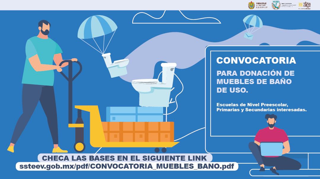 Donación de muebles de baño desmontados del inmueble SSTEEV