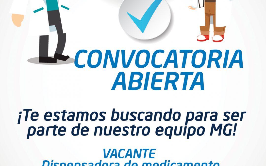 ¡FORMA PARTE DE NUESTRO EQUIPO MG!, Envía tu solicitud a recursoshumanos@ssteev.gob.mx