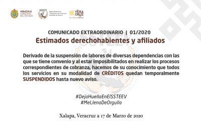 COMUNICADO EXTRAORDINARIO | 01/2020 | SSTEEV