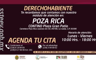 No olvides visitarnos en nuestro módulo de POZA RICA, VER.