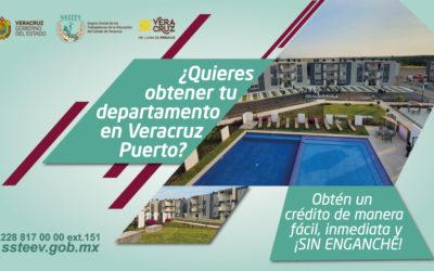 ¡DERECHOHABIENTE! Obtén tu crédito para departamento en Veracruz Puerto de manera fácil, inmediata y ¡SIN ENGANCHE! ¡Escríbenos y nos pondremos en contacto contigo!